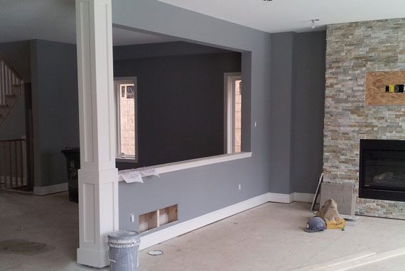 custom home painting project